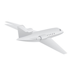 small private jet aircraft flying vector image