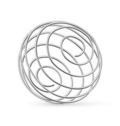 stainless steel whisk ball for shaker bottle vector image