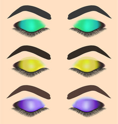 Stock of different makeup of eye vector