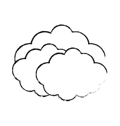 Travel cloud weather concept sketch vector