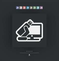 Tv usb icon vector