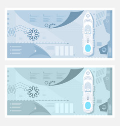 Two kinds of travel banner vector
