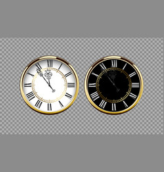 vintage luxury golden wall clock with roman vector image