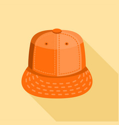 Warm hat icon flat style vector