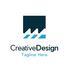 waves media production creative business logo vector image