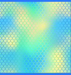 Yellow blue fish scale pattern with colorful mesh vector