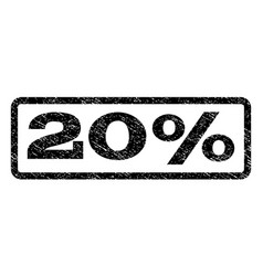 20 percent watermark stamp vector image vector image