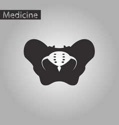 black and white style icon of pelvic bones vector image vector image