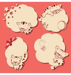 cartoon kitten frames vector image