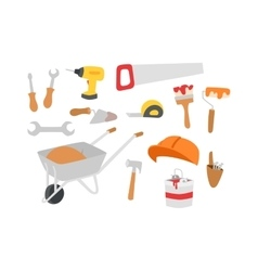 Construction instruments tools set vector image vector image