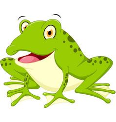 cute frog cartoon vector image