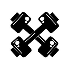Contour dumbbells instrument to do exercise in the vector