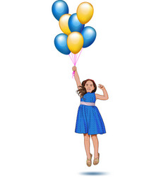 little girl with balloons vector image