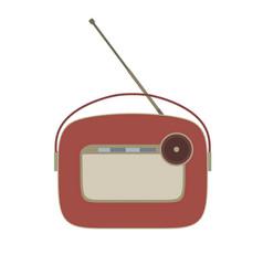 radio vintage retro old music icon speaker sound vector image vector image