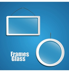 set of glass frame suspended from a rope isolated vector image