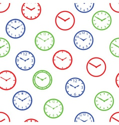 watch dial simple color seamless pattern eps10 vector image vector image