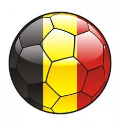 belgium flag on soccer ball vector image