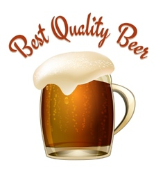 Best Quality Beer vector image vector image