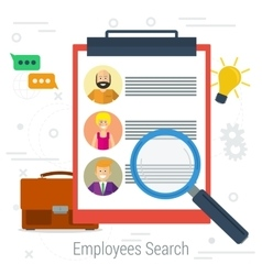 flat concept employee search vector image vector image