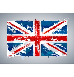 Grunge UK national flag vector image vector image