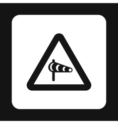 Sign is prohibited noise icon simple style vector image vector image