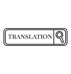 Translation search icon outline style vector image
