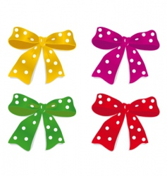 a set of colorful bows vector image vector image
