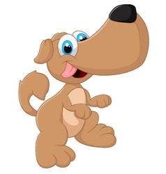 Cute dog posing vector image vector image