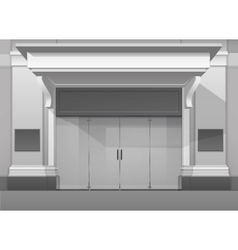 Shop Building Store Front with Closed Glass Door vector image vector image
