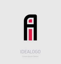a and i initial logo ai initial monogram logotype vector image