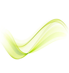 Abstract background green wave background flow vector
