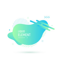 abstract shape design liquid fluid element vector image