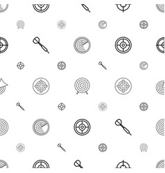 Aim icons pattern seamless white background vector