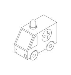Ambulance icon isometric 3d style vector image