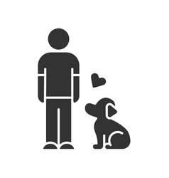 animals welfare and help glyph icon pup vector image