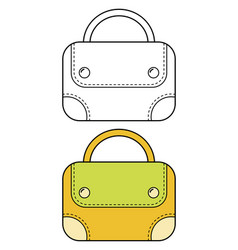 bag flat linear icon of a fashion accessory vector image