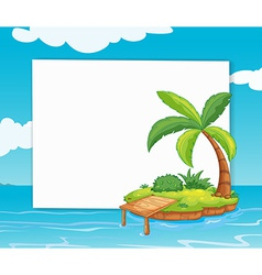 Banner with island vector image