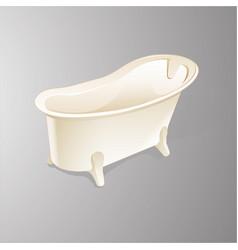 Bathtub isolated on white background vector