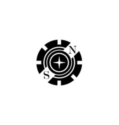 black logo in the form of a partial gear with vector image