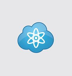 Blue cloud atom icon vector