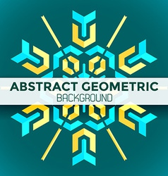 Blue yellow green abstract geometric mandala vector