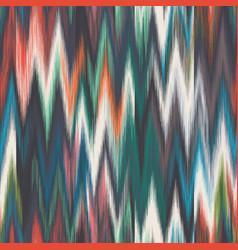 Blurred colorful ikat chevron tribal ethnic motif vector