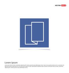Brochure flyer icon - blue photo frame vector