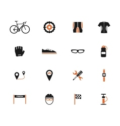Bycicle simply icons vector image