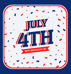 celebration of 4th of july vector image