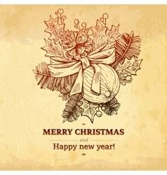Christmas and new year holidays hand drawn vector