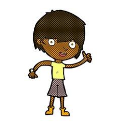 comic cartoon boy with positive attitude vector image
