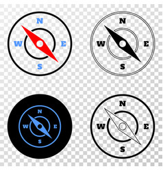 compass eps icon with contour version vector image