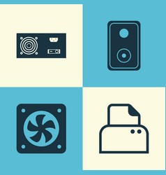 computer icons set collection of power generator vector image