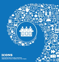 Conference icon Nice set of beautiful icons vector image
